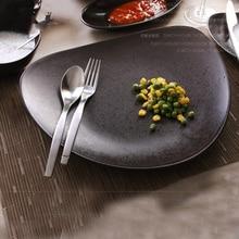 10 pulgadas De Cerámica vajilla platos Occidentales carnes plato de comida Coreana creativa Hueso platos de porcelana plato y plato de postre