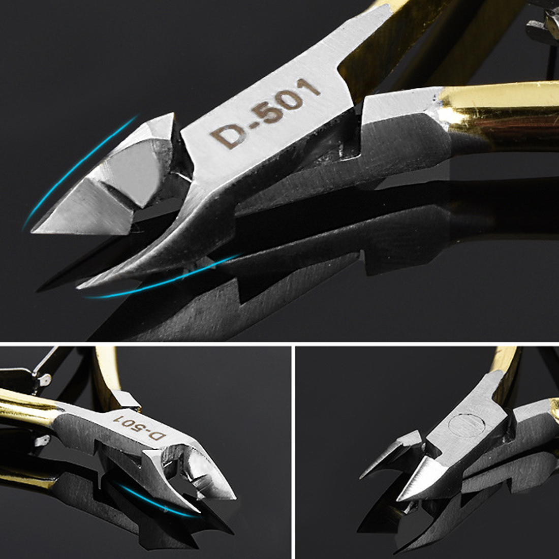 Pedicure Manicure Pliers Nail Dung Inlaid Oblique Nail Scissors Dead Skin Cut Nail Horny Pliers Stainless Steel Nail Clippers