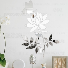 Mirror Wall Stickers Room Decoration Decor Sticker Modern Home For Kids Rooms Bedroom House Butterfly Leaf Flower Petals R069 mirror wall stickers sticker room decoration home decor kids for bedroom variety fonts name letters alphabet customizable r242