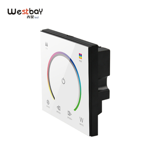Image 5 - RGBW Touch Panel Switch Crystal DC12 24V Controller Light Dimmer Switch LED Strip Light Switch Tempered Glass Wall Switch