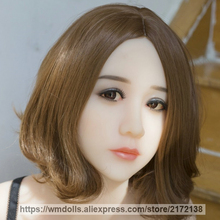 WMDOLL Real TPE Silicone Sex Dolls Head for 140-170cm Lifelike Japanese love doll Adult Sex Oral Toy