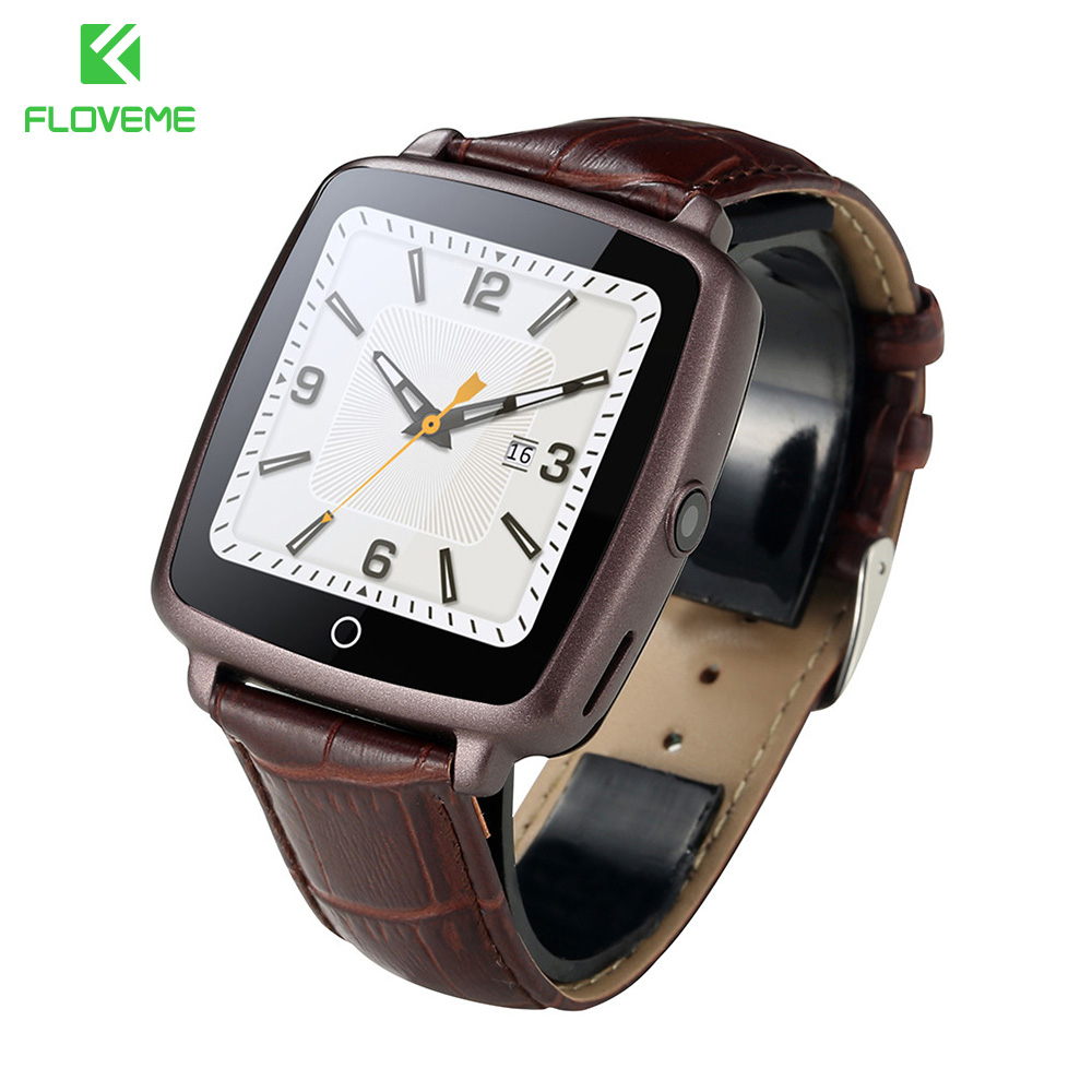 FLOVEME D3 Bluetooth Sport Leather Strap Smart Watch Phone With SIM Card Connectivity For Apple Android Phone For Samsung Xiaomi
