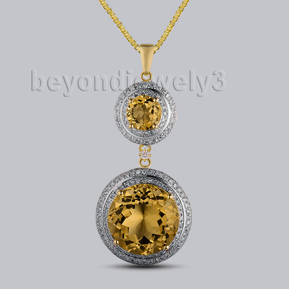 New!!!14Kt Yellow Gold 10.38ct Natural Citrine Fantastic Wedding Pendant WP048New!!!14Kt Yellow Gold 10.38ct Natural Citrine Fantastic Wedding Pendant WP048