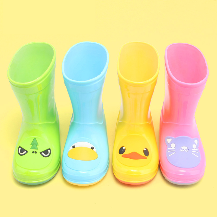 Lluvia Botas bebé Niñas Botas niños Outwear Zapatos reflectante brillante jalea lluvia Botas antideslizante impermeable Niños zapato