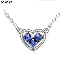 Frete grátis Soulmate Coração Pingentes Mulheres colar de prata Banhado A qualidade Superior Por Atacado Mulher Acessórios Cadeia NecklacesXL1033