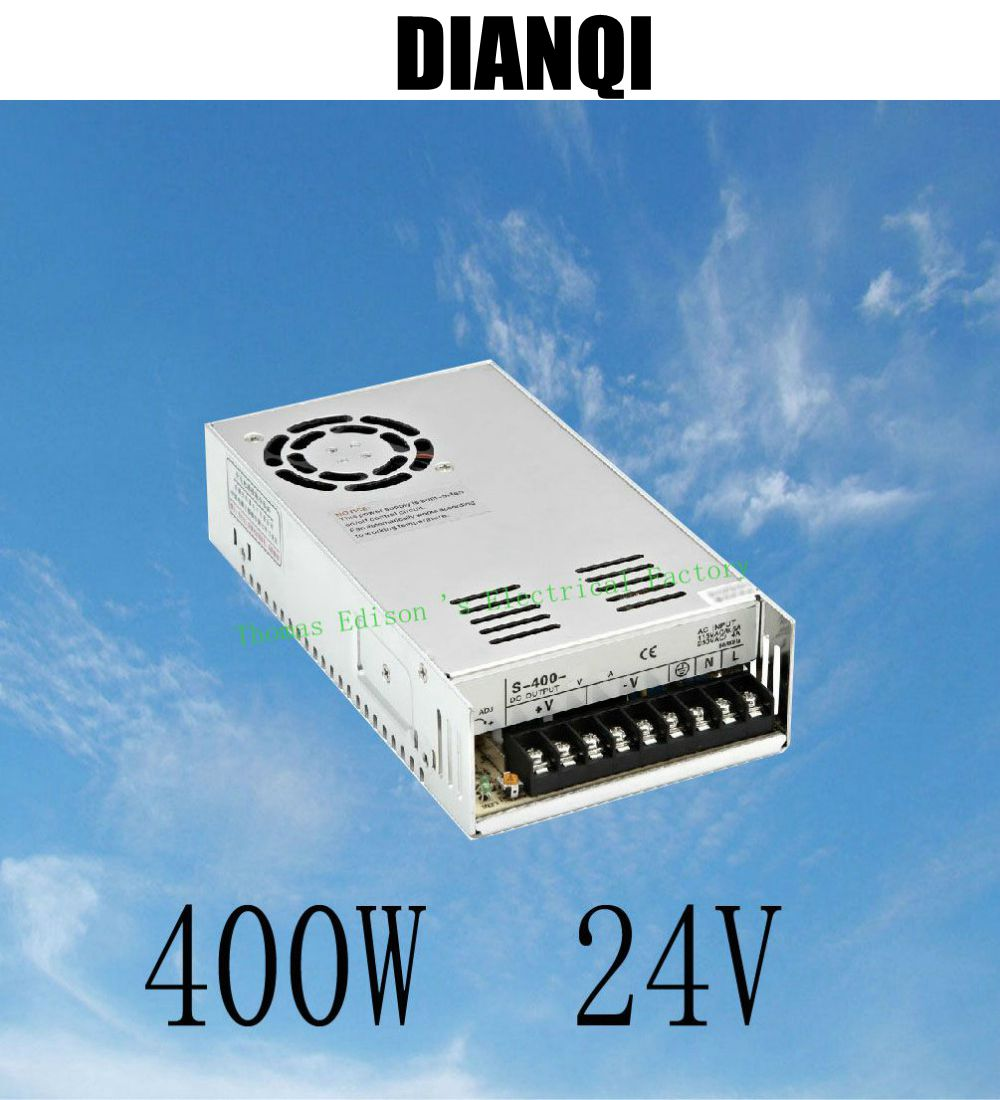 400W 24V 17A Single Output Switching power supply for LED AC to DC smps  24v variable dc voltage regulator S-400-24 20w 24v 1a ultra thin single dc output switching power supply for led strip light smps