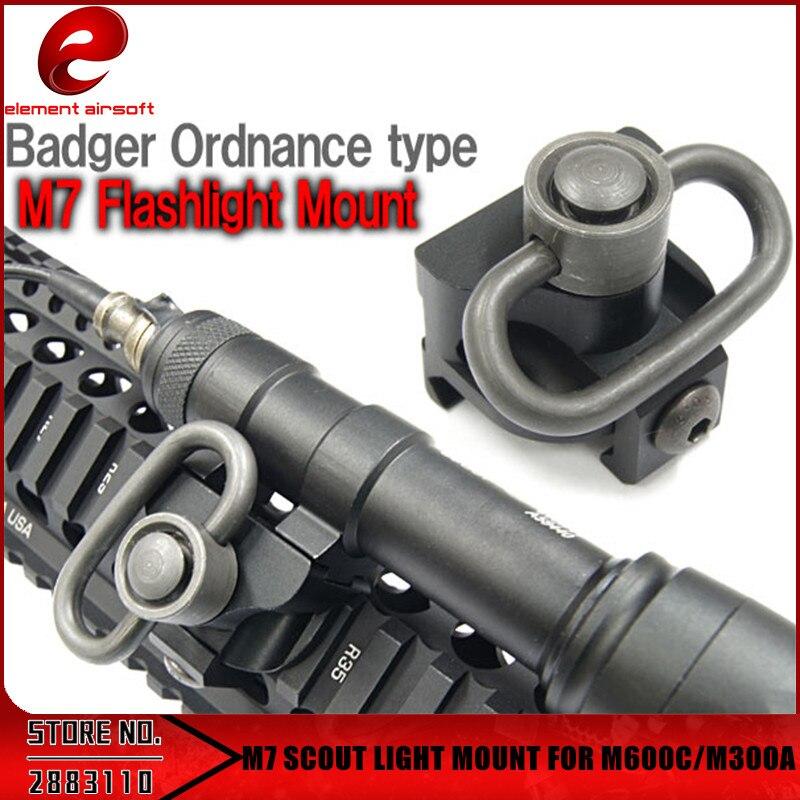 Element M7 SCOUT Light Mount Rifle Accessories for M600C / M300A Tactical Weapon Flashlight EX257
