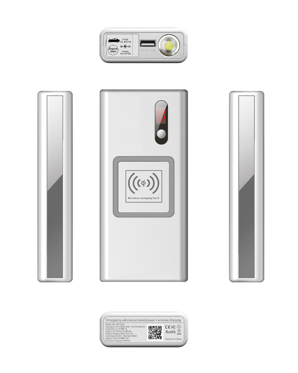 wireless power bank with emergency vehicls activated power-2