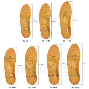 Image 5 - WINRUOCEN Leather Latex Orthopedic Foot Care Insole Antibacterial Active Carbon Orthotic Arch Support Instep Flat Foot Shoe Pad