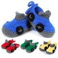 Vendedor quente Recém-nascidos Sapatos de Crochê Da Criança Do Bebê Bonito Do Estilo Do Carro Handmade lã Zapatos bebe menino sapatos Meninas sapatos 1 par XZ015