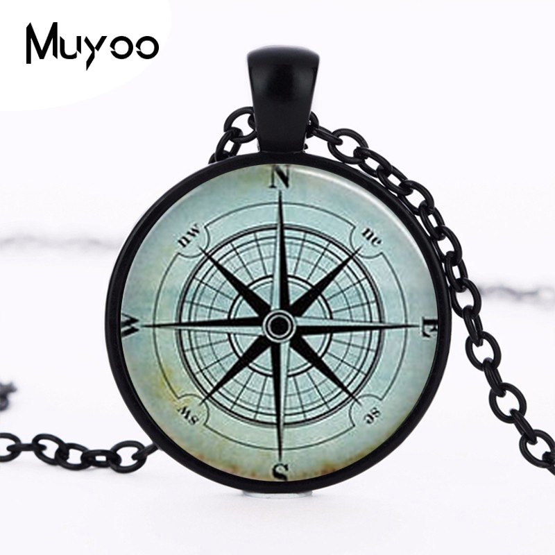 US movie golden compass necklace pendant new 1pcs/lot Wind Rose Steampunk chain jewelry gift women fashion doctor who time HZ1