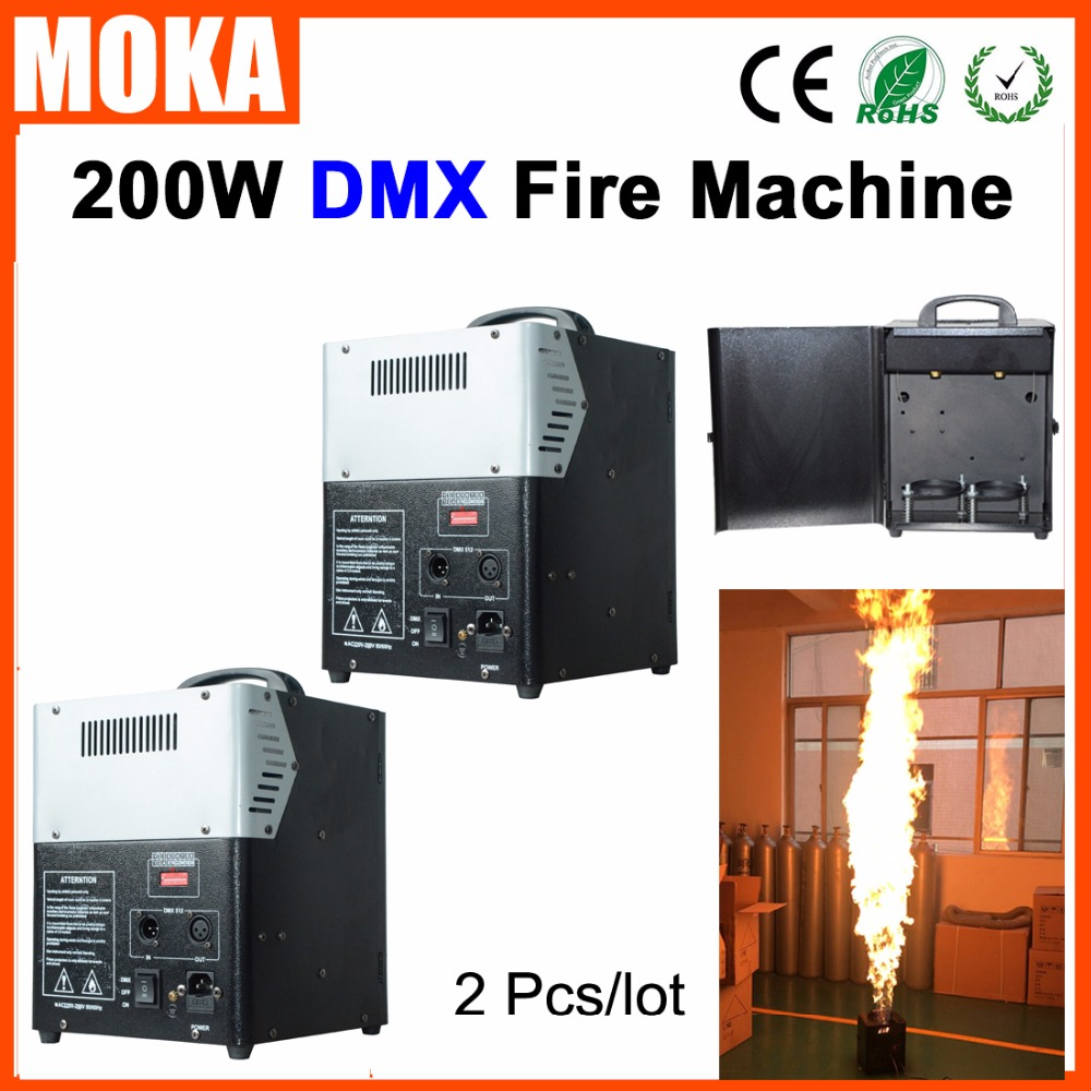 2 Pcs/lot chinese wholesaler stage effect FX dmx fire machine artificial fire flame machine for Stage party outdoor events|fire flame machine|dmx fire machine|flame machine - title=