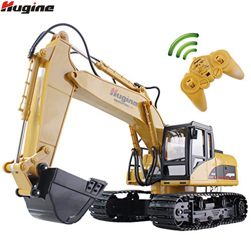 RC Truck Excavator Crawler 15CH 2.4G Remote Control Digger Demo Construction Engineering Vehicle Model Electronic Hobby Toys huina 1510 rc excavator car 2 4g 11ch metal remote control engineering digger truck model electronic heavy machinery toy