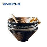 Japanese style Ceramic Bowl Vintage Dinnerware Tableware / Food Container Hand Pulled Noodle Soup Bowl Breakfast Porridge Holder