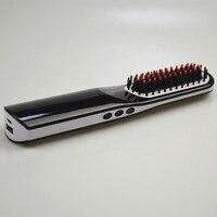 Professional Hair Straightener brush NASV Mini Flat Iron USB Rechargeable Portable Hair Styling Tools Hair straightening comb