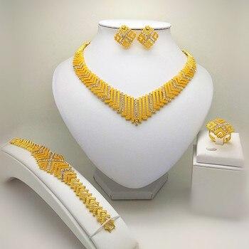 ad389c5f292e Reino Unido Ma superior Dubai de grandes conjuntos de joyas de boda de  Nigeria África Etiopía collar pulsera pendiente anillo conjunto de joyas