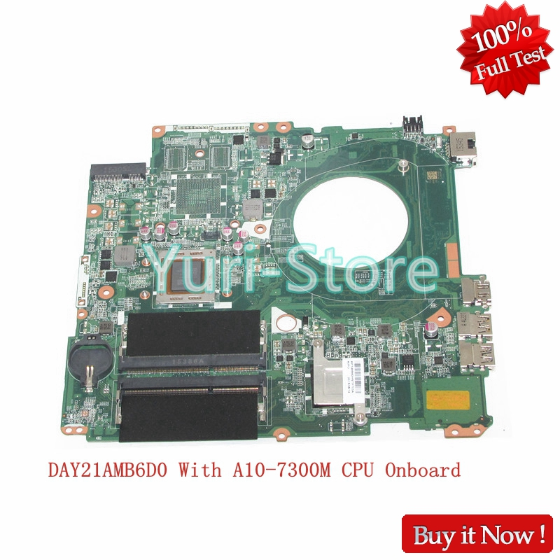 NOKOTION Laptop Motherboard For HP Pavilion 17-P MAIN BOARD 809985-601 809985-001 DAY21AMB6D0 With A10-7300M CPU Onboard nokotion original 809985 601 809985 001 laptop motherboard for hp pavilion 15 p a10 7300m cpu day21amb6d0 full tested works