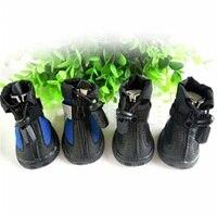 Sapatos Cão de estimação Botas de Chuva Meias Antiderrapante Sapatos Ao Ar Livre Animais Botas De Borracha À Prova D' Água Suprimentos Para Animais de Estimação Produtos Do Cão WWM860 Zapatos