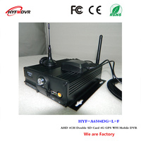 Dual cartão de armazenamento mdvr 4 canal de host de monitoramento de posicionamento remoto gravador de vídeo com 4G GPS Wi-fi