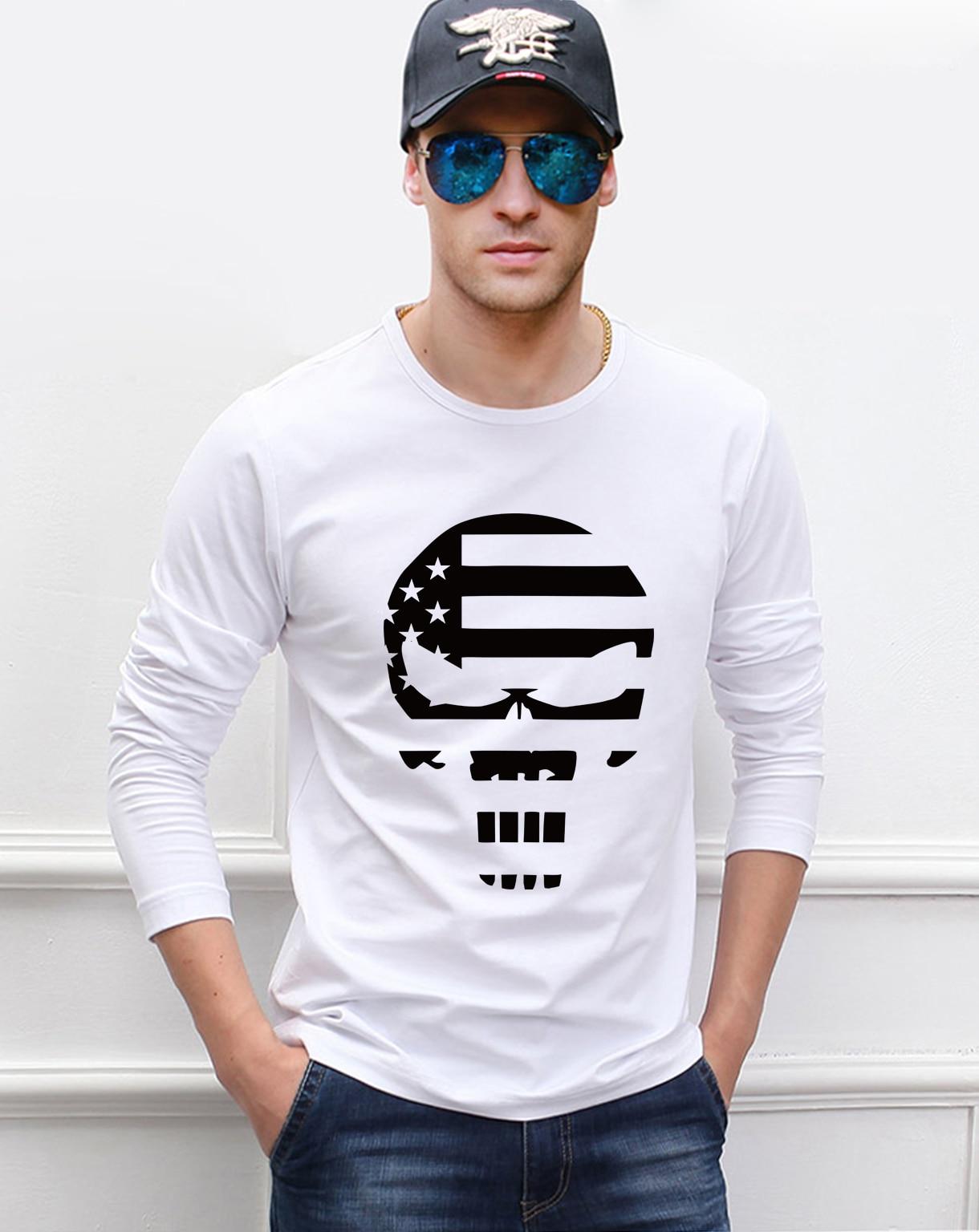 American Sniper Chris Kyle  Skull Navy Seal Team Legend 2019 new spring men's long sleeve T-shirts hip hop men t shirt