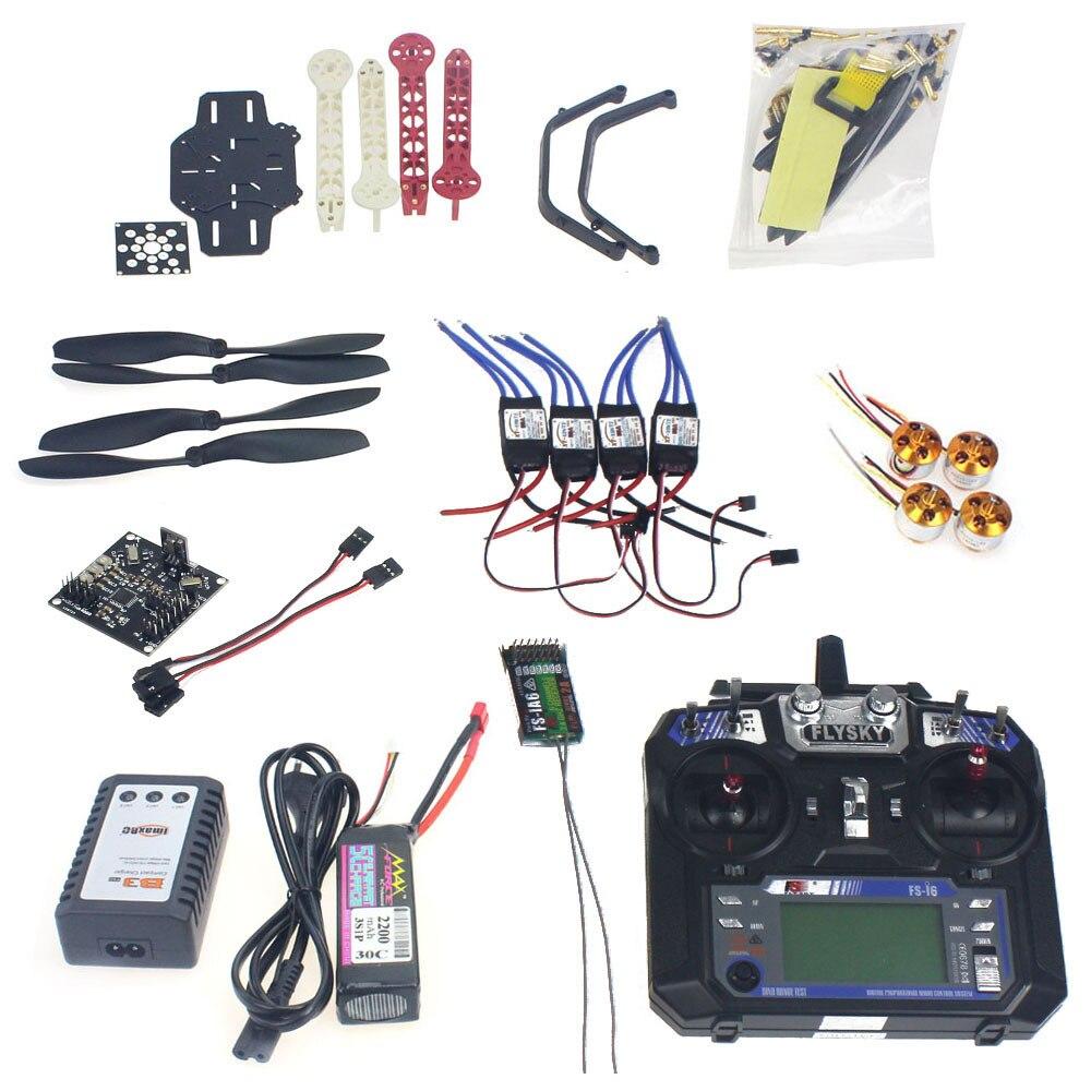 Ensemble complet RC Drone Quadrocopter 4-axe Avions Kit F330 MultiCopter Cadre KK XCOPTER Vol Contrôle Émetteur F02471-J