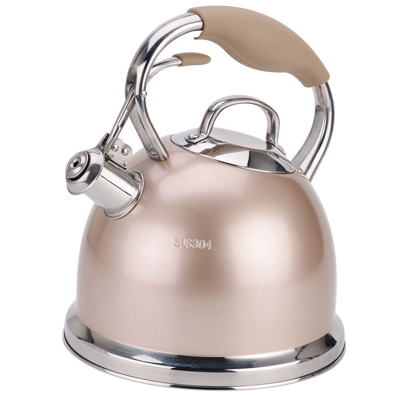 Stainless steel teapot European gas gas induction cooker universal household kettle tea 3L