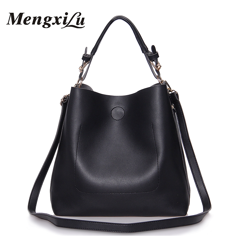 MENGXILU Luxury Handbags Women Bags Designer Women Shoulder Bag High Quality Female Bag Large Capacity Pu Leather Women Handbags