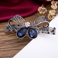 Hair Clip Bow CZ Crystal Rhinestone Barrette Hairpin Jewelry Bijouterie Trinket New Ornament Accessories For Woman Hairgrips