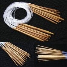 Новинка, 18 размеров, 40 см, 60 см, 80 см, свитер, Бамбуковая гладкая отделка, круговой вязаный набор иголок