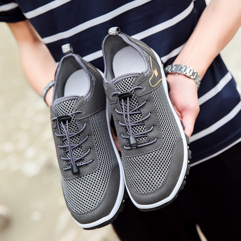 New Style Summer shoes breathable mesh shoes outdoor climbing  Lace - Men's Shoes - Photo 5