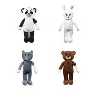 1Pcs 15.7 Inches Furry Fun Cuddly Soft Bear Creative soft stuffed Panda rabbit wolf bear Plush Toy Cute New