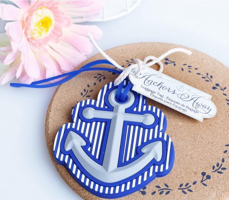 100PCS/LOT High Quality Beach Theme Anchors Away Travel Luggage Tag wedding bridal shower Favor party gifts Free shipping SN1084