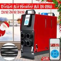 5kw/3kw/2kw 12 v ar diesel aquecedor 4 furos monitor de exibição digital para caminhões barcos ônibus|Controles de aquecedor e AC| |  -