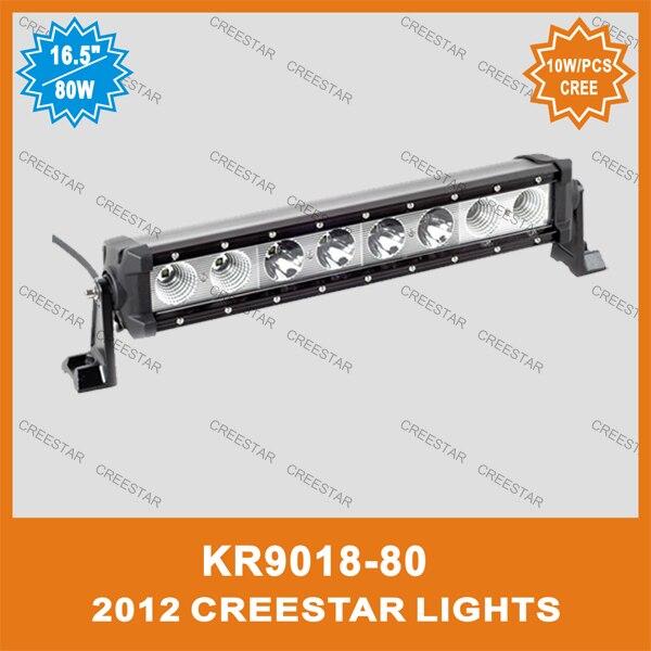 ФОТО 80W Spot Flood LED Light Bar 7000LM 12V LED Offroad Fog WorK Light 17Inch KR9018-80 80W Led work light bar car styling offroad