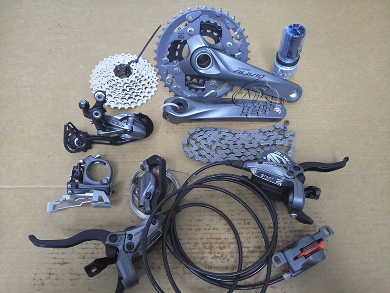 SHIMANO ALIVIO M4050 3x9 speed MTB Bicycle groupset with hydraulic disc brake integrated