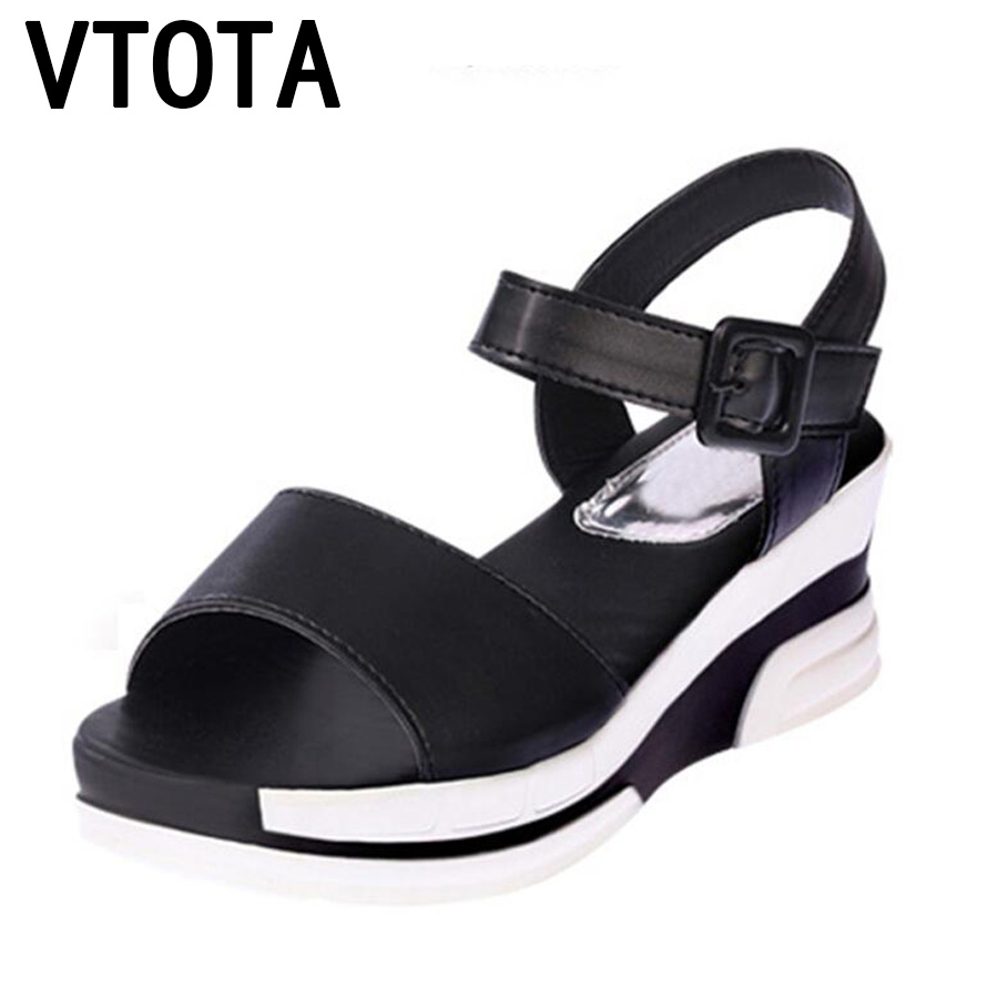 2017 Summer shoes woman Platform Sandals Women Soft Leather Casual Open Toe Gladiator wedges Women Shoes zapatos mujer X6 muyang chinese brand summer open toe shoes woman genuine leather wedge platform sandals fashion 2017 casual wedges women sandals