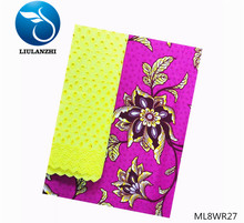 LIULANZHI Prints Fabric Flower Wax African Dry Lace Cotton Voile New Set ML8WR27