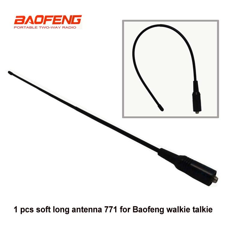 NA701 UHF VHF 144 430MHz walkie talkie handheld radio flexiable SMA male antenna