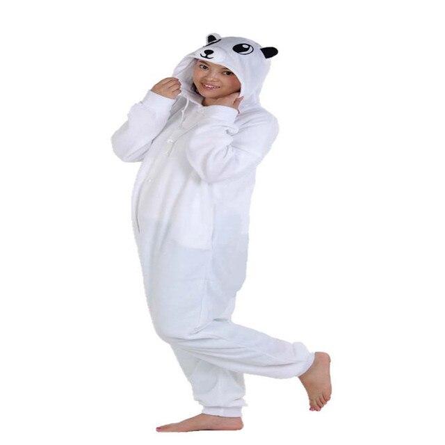 Мультфильм Белый медведь Onesie косплэй костюм Роман Пижама для вечеринки  зима спортивный костюм 78f431c63eed2