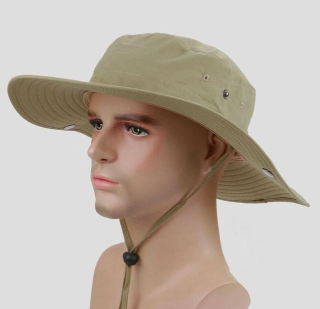 71988e29 6pcs Men Blank Bucket Hat with String Women Plain Buckets Hat Mens Summer  Fishing Caps For Hiking Climbing Camping Wholesale