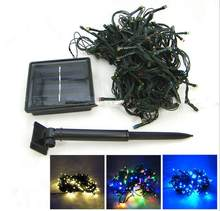 Blue Green White Yellow multicolor Christmas Solar LED String Lights 200 LEDs Solar Lamps Garden Outdoor Garland Lights Solar(China)