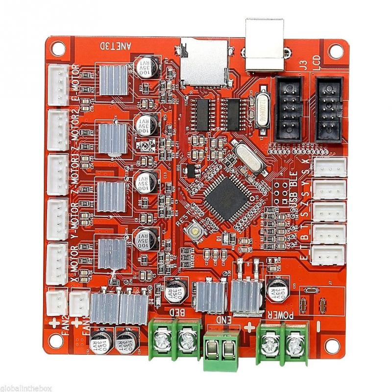 2018 verano nuevo Arrivials Anet A8 3D impresora de placa base Anet V1.0 para Reprap Mendel Prusa Control Motherbo