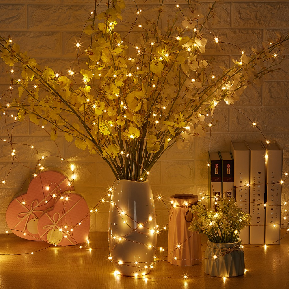 20 M / 66 Ft 200 LEDs Afstandsbediening Dimbare Led String Fairy - Vakantie verlichting - Foto 6