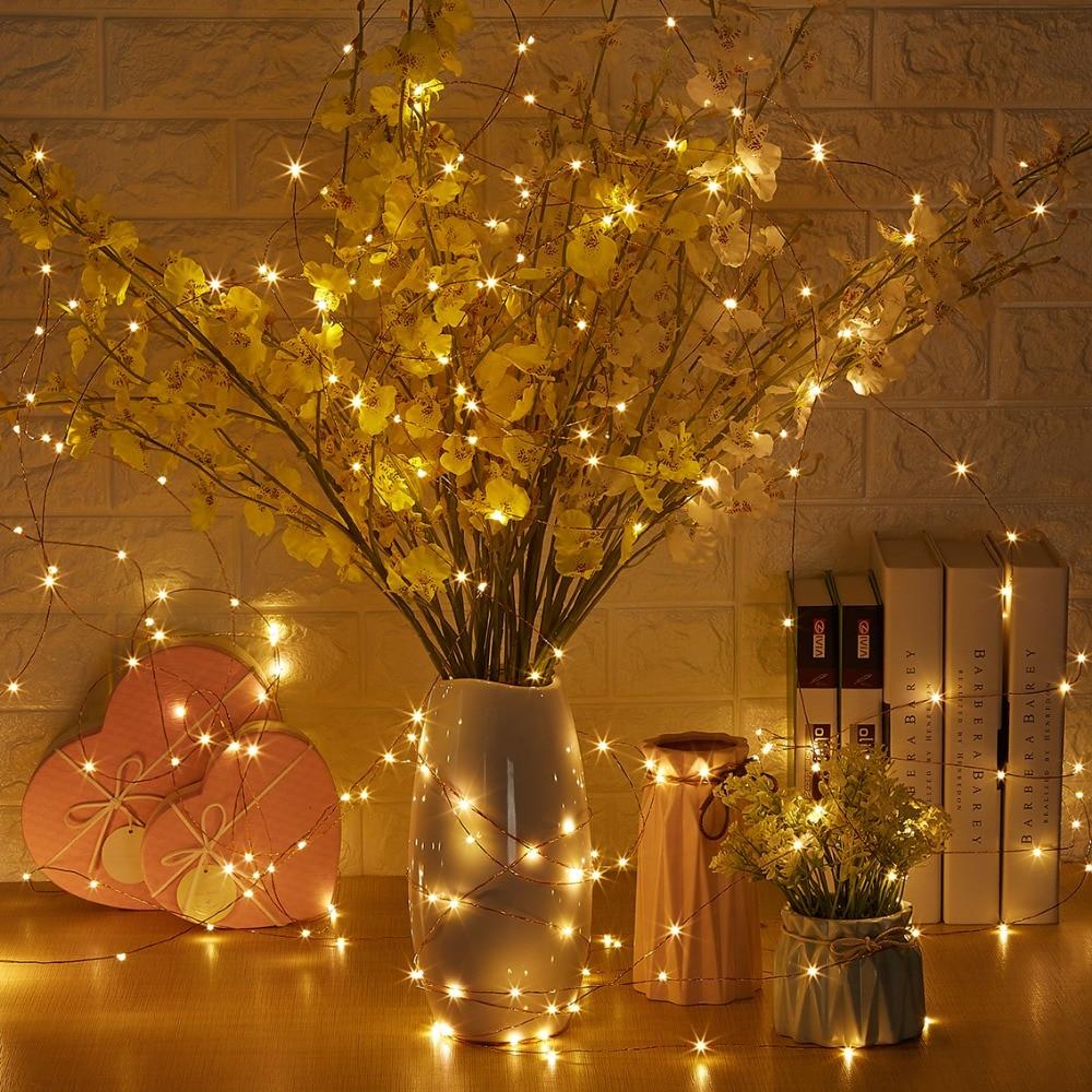20M / 66Ft 200 diod LED Zdalne przyciemnianie Led String Fairy Lights - Oświetlenie wakacje - Zdjęcie 6