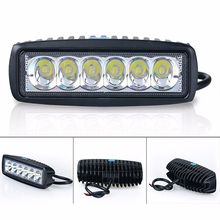 18W Floodlight Light Work LED Bar Driving Fog Lamp Offroad SUV 4WD Car Boat LED Work Light for Toyota Motorcycle Tractor Auto