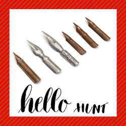 Spencerian script copperplate Latin English calligraphy Dip pen nib speedball  hunt 22 56 99 101 513