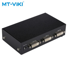 MT-VIKI 2 Port DVI Splitter Verteiler Video-Sharing 1 eingang 2 ausgang mehrere LCD monitor Synchron Display MT-DV2H mt viki 8 port hdmi splitter distributor video sharing 1 input to 8 output multiple lcd monitor synch display mt sp108m