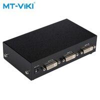 MT VIKI 2 Port DVI Splitter Verteiler Video Sharing 1 eingang 2 ausgang mehrere LCD monitor Synchron Display MT DV2H