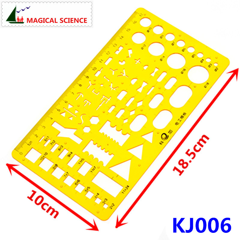 17cm plastic Electrical templates Students Physical electrical Drawing ruler Circuit design drawing board KJ006