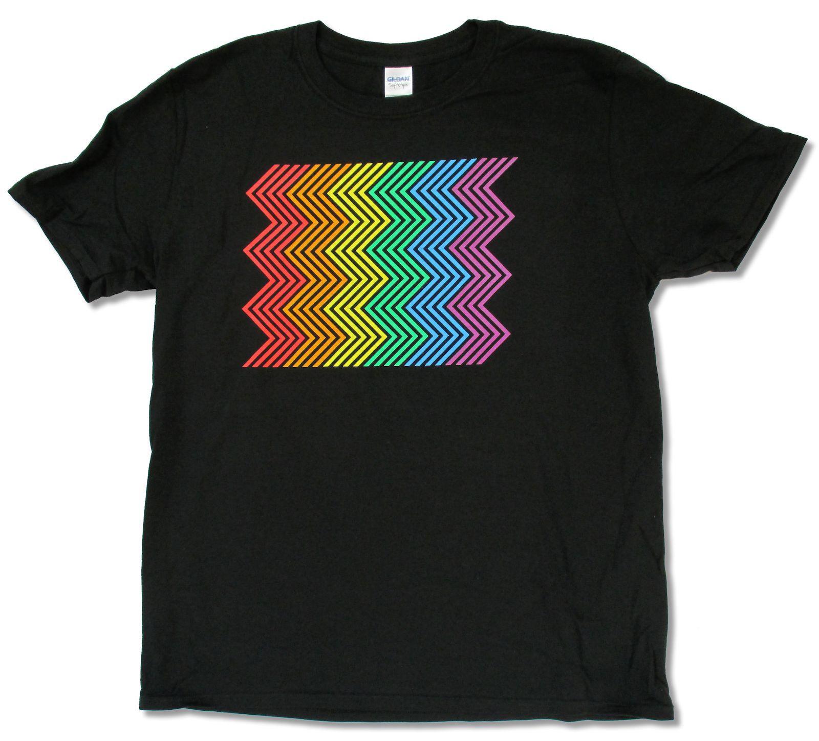 PET SHOP BOYS ELECTRIC RAINBOW TOUR 2014 BLACK T-SHIRT NEW OFFICIAL ADULT BAND Novelty Cool Tops Men Short Sleeve T shirt